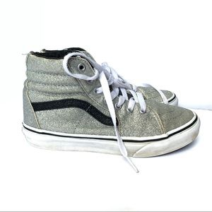 ❤️VANS❤️Silver Glitter High Top Sneakers❤️Unisex